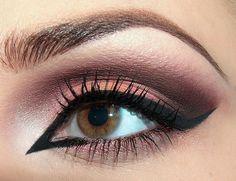 Like the burgundy eye..I wouldn't make inner so dramatic