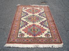 1970s Hand-Knotted Ardabil Persian Rug (3018) by carpetshopprincess on Etsy