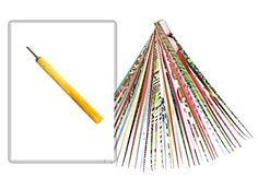 Paper Bead Roller Quilling Tools Set with 3//4 Slotted Metal Tips 2MM and 3MM Diameter Paper Strips Included