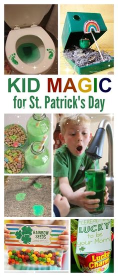 Kid Magic for St. Patrick's Day – bucksworthy Kid Magic for St. Patrick's Day KID MAGIC: 10 Simple ways to make St. Patrick's Day magical for kids- I love these ideas! St Patricks Day Crafts For Kids, St Patrick's Day Crafts, Holiday Crafts, Holiday Fun, Diy Crafts, Creative Crafts, Paper Crafts, Preschool Crafts, Holiday Ideas