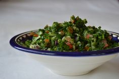 Tabouleh: salade de persil plat Mezze, Guacamole, Cabbage, Paleo, Low Carb, Gluten, Vegetables, Ethnic Recipes, Food