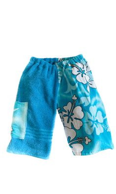 Kids Towel Shorts - wipe hands here!