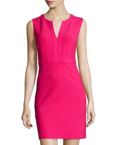 DIANE VON FURSTENBERG Fleur Caftan Sheath Dress, Fuchsia. #dianevonfurstenberg #cloth #dress