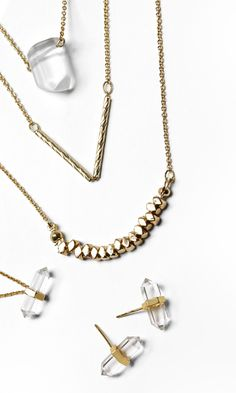 Basics: making a statement with dainty gold and crystal jewelry