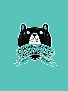 wooilikeit:    Grizzly Logo by Tony Riff