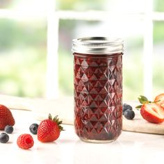 Ball Regular Quilted Crystal Jelly Jars are ideal for fresh preserving recipes such as jams, jellies, sauces, mustards and flavored vinegars.