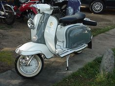 Lambretta TV 175 Series 2  Different colour scheme, but this was the model I had in 1971. It was 10 years old then!