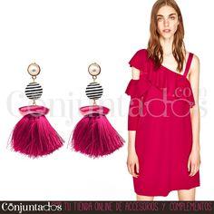 Pendientes Frida ★ 13'95 € en https://www.conjuntados.com/es/pendientes-frida-con-perla-y-flecos-fucsia.html ★ #novedades #pendientes #earrings #conjuntados #conjuntada #joyitas #lowcost #jewelry #bisutería #bijoux #accesorios #complementos #moda #eventos #bodas #invitadaperfecta #perfectguest #party #fashion #fashionadicct #fashionblogger #blogger #picoftheday #outfit #estilo #style #streetstyle #spain #GustosParaTodas #ParaTodosLosGustos