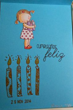 Interior de una tarjeta de cumpleaños
