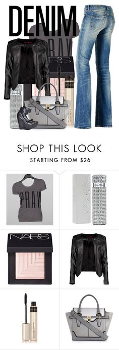 """""""Bootcut jeans"""" by linseygreen ❤ liked on Polyvore featuring GUESS, Paris Hilton, NARS Cosmetics, Boohoo, By Terry, River Island and Max Azria"""