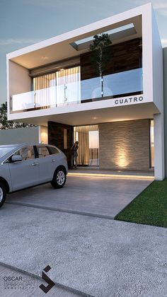 All Time Modern House Designs – My Life Spot Modern Exterior House Designs, Modern House Facades, Modern Architecture House, Modern House Plans, Modern House Design, Exterior Design, Architecture Design, Duplex Design, Bungalow House Design
