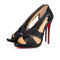 CHRISTIAN LOUBOUTIN Mamma Roma 120Mm Black Glitter. #christianlouboutin # shoes #