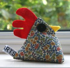 Limited Edition Liberty fabric chicken paperweight £8.00