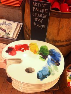 Artist's Palette Cheese Tray by Fishs Eddy