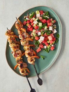 Butterflied prawn skewers   Jamie Oliver recipes Best Bbq Recipes, Prawn Recipes, Barbecue Recipes, Seafood Recipes, Cooking Recipes, Healthy Recipes, Seafood Dishes, Fish Recipes, Summer Recipes