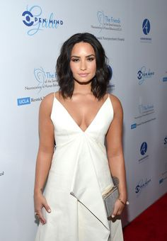 Demi Lovato Lookbook: Demi Lovato wearing Medium Wavy Cut (21 of 26). Demi Lovato framed her face with perfectly styled waves for the Open Mind Gala.