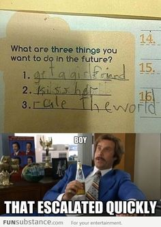 What Are Three Things You Want To Do In The Future?
