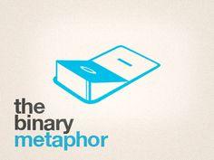 Dribbble - The Binary Metaphor Logo by Panos Spiliotis