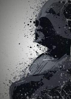 steel canvas Movies & TV darth vader star wars empire strikes back return jedi sith anakin skywalker pop culture splatter