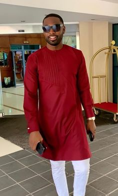Also follow us on #leguideco #leguidecordc @leguideco www.leguideco.com African Wear Styles For Men, African Shirts For Men, African Dresses Men, African Attire For Men, African Clothing For Men, Nigerian Men Fashion, African Men Fashion, White Pants Men, Costume Africain
