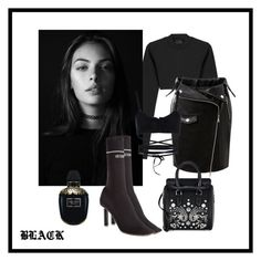 """""""Black"""" by aputrifebxx on Polyvore featuring Puma, Vetements and Alexander McQueen"""