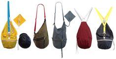 The Bedford Bag bicycle helmet tote in colors & styles.... true chameleon