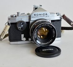 Vintage Konica AUTO-REFLEX SLR 35mm Film Camera w/ Hexanon f1.8 52mm Lens - Mint by vtgwoo on Etsy