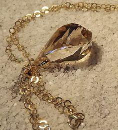 """Urban Light : """"Golden drop"""" long necklace"""