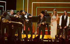 "No woman, no man, no cry with this much star power on the GRAMMY stage. Sting, Ziggy Marley, Bruno Mars, Rihanna, and Damian Marley jam to Bob Marley's ""Could You Be Loved"" at the 55th GRAMMY Awards in 2013"