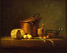 Jean-Baptiste-Siméon Chardin, Still Life with Copper Pot, Cheese and Eggs, c. Dutch Still Life, Still Life Art, Still Life Oil Painting, House Painting, Composition, Copper Pots, Egg Art, Museum, Art Reproductions