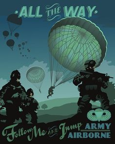 This Army Airborne Poster art is found only at squadronposters.com