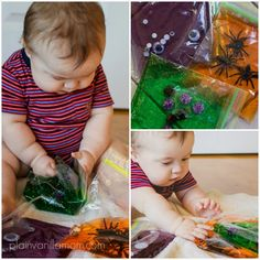 Halloween Sensory Bags for Babies & Toddlers