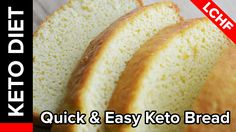Quick & Easy Keto Bread  --  6 eggs 4 T. Butter 1.5 C almond flour 3 tsp. Baking powder Bake at 375* in buttered loaf pan for about 20 minutes  12 slices 1 g carb each.  - commenter said:  next thing to  try: adding a lil vanilla and cinnamon for a breakfast bread.