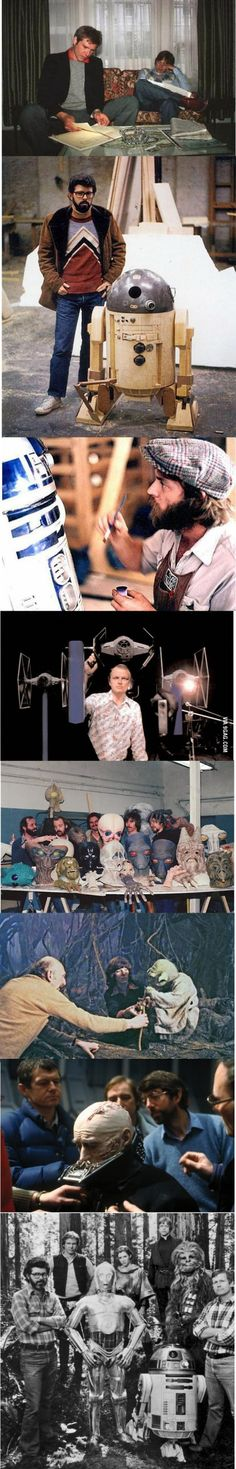 Some rare behind-the-scenes photos of Star Wars