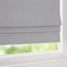 Grey Linen Blackout Roman Blind | Dunelm Mill
