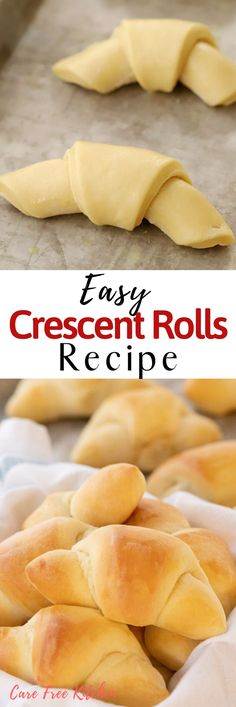 This Homemade Crescent Rolls Recipe is Grandma's Yeast Rolls Recipe. It's buttery and soft and is the perfect side for your holiday meal. Your family is going to love this easy homemade roll recipe. Cresent Roll Dough Recipe, Homemade Cresent Rolls, Easy Homemade Rolls, Homemade Recipe, Crescent Roll Recipes, Crescent Rolls, Dinner Rolls Recipe, Recipe For Croissant Rolls, Homemade Croissants