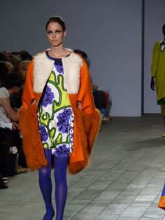 Designer Manri Kishimoto showing for the 1st time at the CSM Fashion Show 29/12/2012 - You saw it here first.