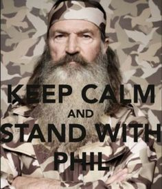 I support Phil Robertson! As a Christian, I believe God gave us the right to stand for something or fall for anything. Thank you Phil and the Robertson family for standing for what you believe! Robertson Family, Phil Robertson, Dynasty Tv, Duck Dynasty, My Favorite Music, Favorite Tv Shows, Favorite Things, Country Girls, Country Music