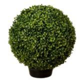 Potted Artificial Topiary Boxwood Ball, 18-in   Canadian Tire