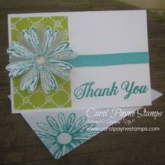 I created this card for a swap. More info on my blog: http://www.carolpaynestamps.com/2017/05/stampin-up-daisy-delight.html