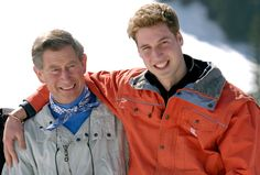 Charles and William in Switzerland in 2002.