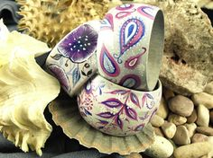 Hand painted wooden bangle bracelets by ArtWilk (R)