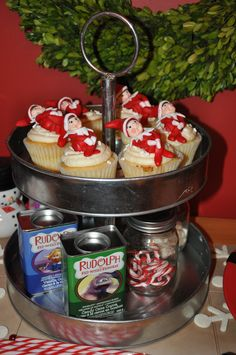 Cupcake and Hot Chocolate Station at our North Pole Breakfast.
