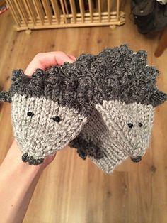 Knitting Patterns For Names : #10 Hedgehog Slippers by Pat Olski Shoe, ,socks,zokni ...