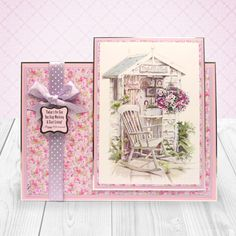 Summer Dreams created from Hunkydory Crafts' Step into Springtime Topper collection - The Potting Shed & The garden Shed Deco-Large set