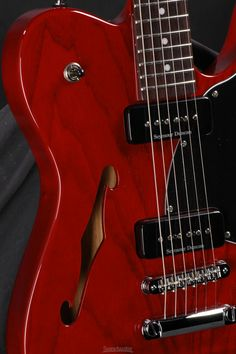 Fender Jim Adkins JA-90 Telecaster Thinline - Crimson Transparent with Rosewood Fingerboard image 2