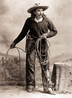 Born in Fredericksburg, Texas, in 1857, Buck Taylor found himself a protégé on Buffalo Bill Cody's Nebraska ranch; he ended up performing cowboy stunts in the wild west show.