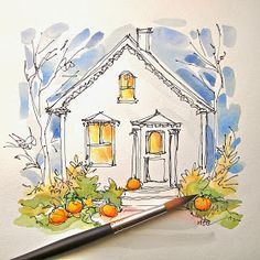 I have a post going in my head about Cezanne. Very excited to share.     But, it will have to wait. There are Halloween cards to be ma...