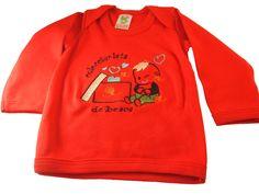 """Entre nuestras camisetas originales, destaca una por su ternura. Nuestro modelo """"Coleccionista de besos"""" es ideal para camisetas tanto de bebes como de niñ@s. Está disponible en estos colores: Rojo, Lila, Granate, Pistacho, Mostaza y Morado. El color del hilo con el que se borda el dibujito, lo elijes tu."""