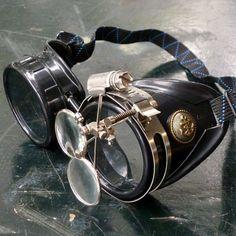 Victorian Steampunk goggles aviator victorian welding biker eye cup--xxx